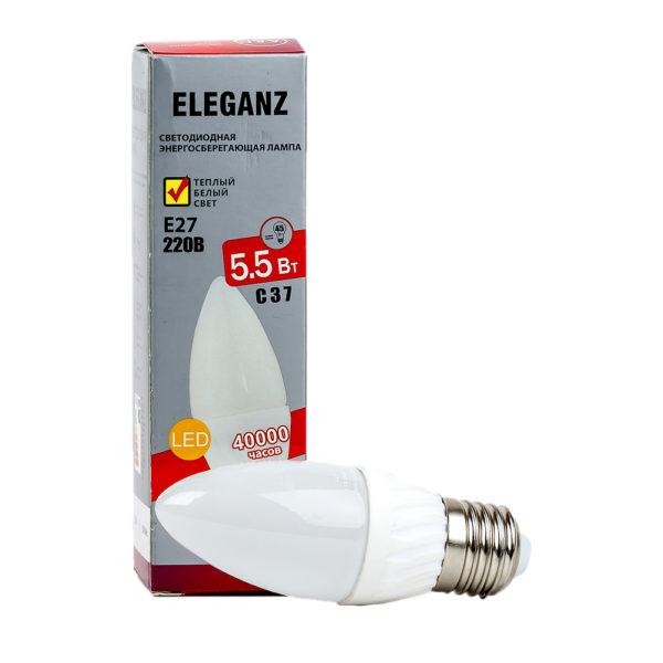 Светодиодная лампа E27 5.5Вт свеча Eleganz