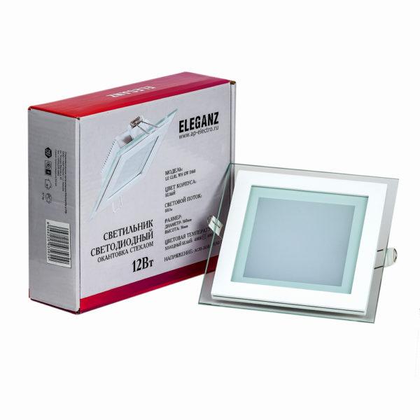 Светодиодный светильник квадратный 12Вт Eleganz