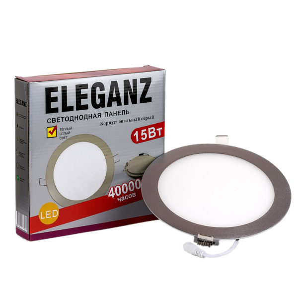 Светодиодная панель круглая 15Вт Eleganz