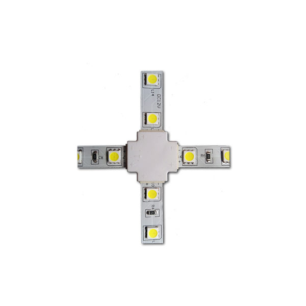 Коннектор крестовой 5050-RGB без провода