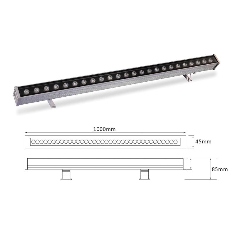 Линейный LED светильник архитектурный el-LS-XQ-1010 на заказ