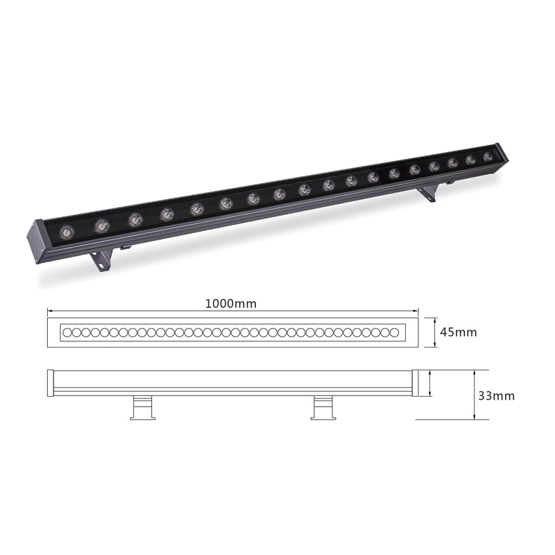 Линейный светодиодный светильник архитектурный el-LS-XQ-1009