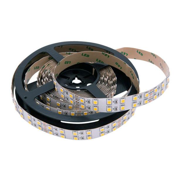 Светодиодная лента 28.8Вт двухрядная 5050 24V LUX