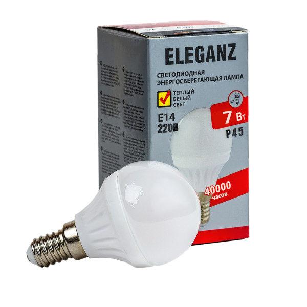 Светодиодная лампа E14 - 7Вт шар Eleganz