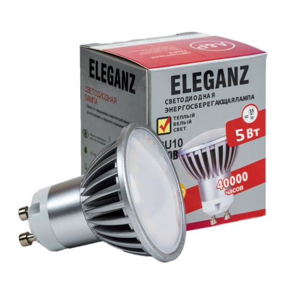 Светодиодная лампа GU10 - 5Вт Eleganz