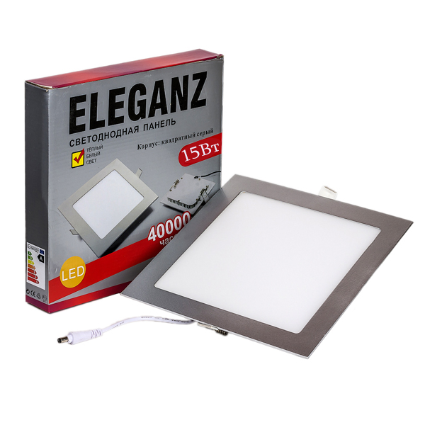 Светодиодная панель квадратная 15Вт Eleganz