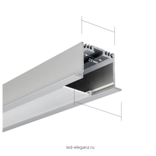Встраиваемый алюминиевый профиль AN-P276 37*25мм