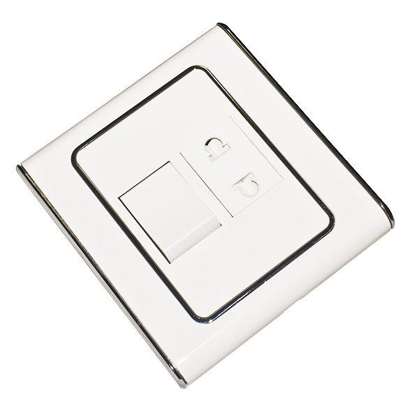 Мебельный выключатель с розеткой 250 Вольт 10А